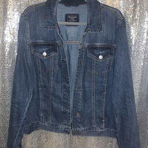 Abercrombie dark wash denim jacket